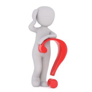 Person mit Fragezeichen